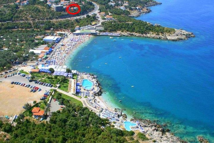 Location of apartment for rent, Utjeha Montenegro