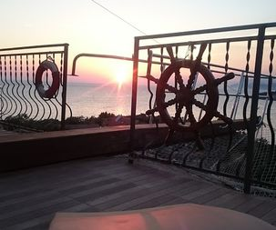 Sunset from apartment for rent, Utjeha Montenegro