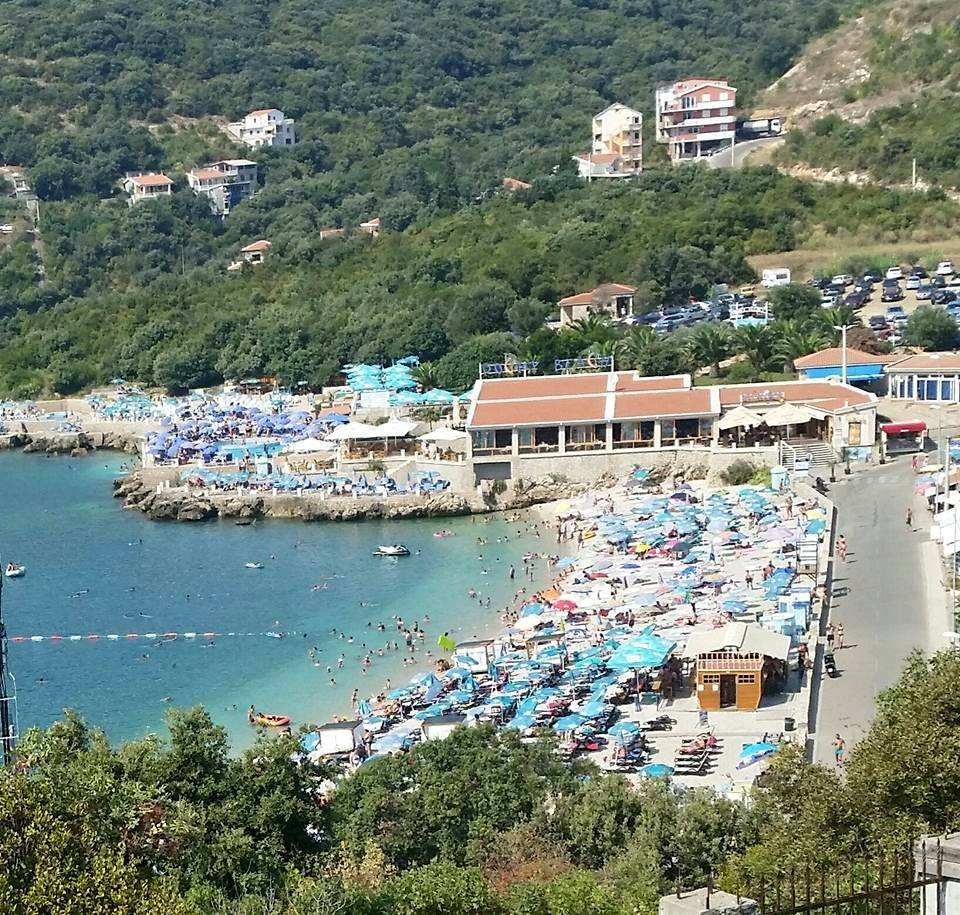 Beach view from apartment for rent, Utjeha Montenegro
