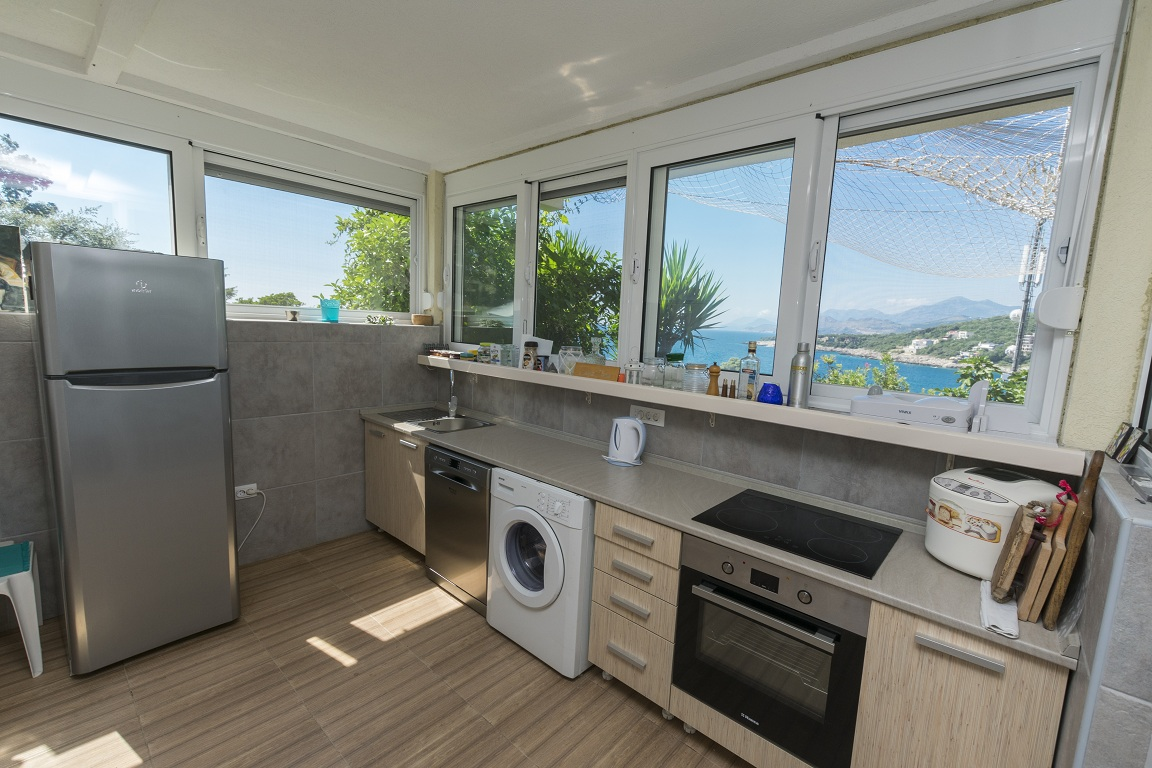Kitchen  of apartment for rent Utjeha Montenegro Mediterranean Europe